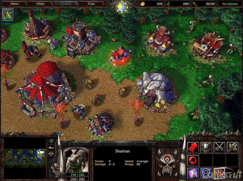 Скриншот к игре Warcraft 3: The Reign of Chaos (2002-2003) PC | RePack от R.G. Механики