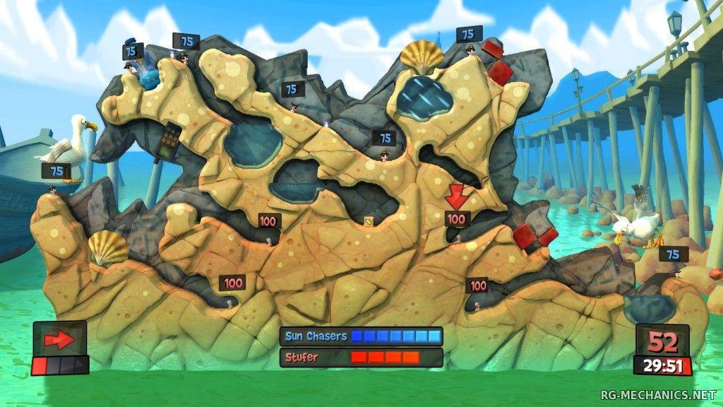 Скриншот к игре Worms Revolution (2012) PC | RePack от R.G. Механики