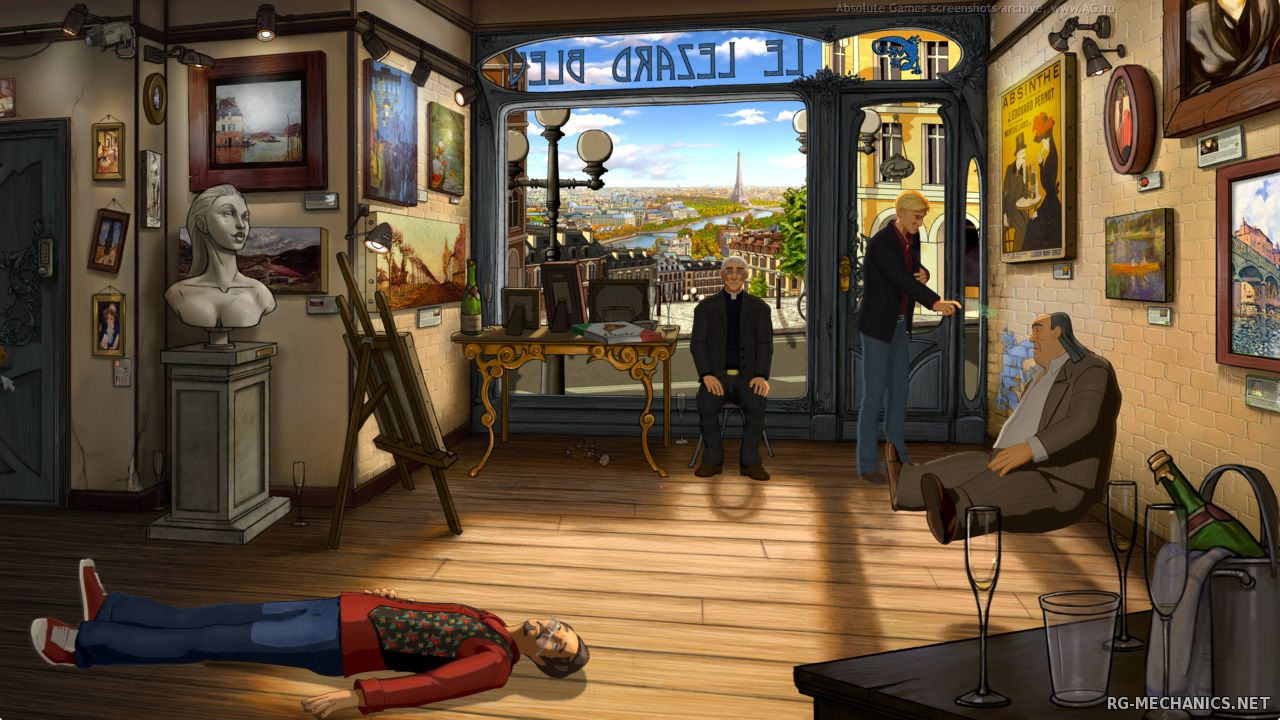 Скриншот 1 к игре Broken Sword 5: The Serpent's Curse. Episode One & Two (2013-2014) PC | RePack от R.G. Механики