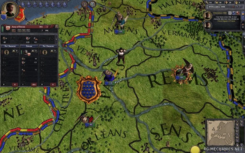 Скриншот к игре Крестоносцы 2 / Crusader Kings 2 [v 2.4.1] (2012) PC | RePack от R.G. Механики