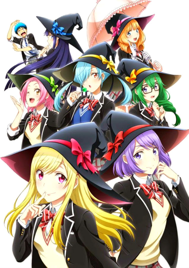 Ямада и семь ведьм / Yamada-kun to 7-nin no Majo [01-12 из 12 + 1-2 OVA] (2015) HDTVRip 720p | AniDub