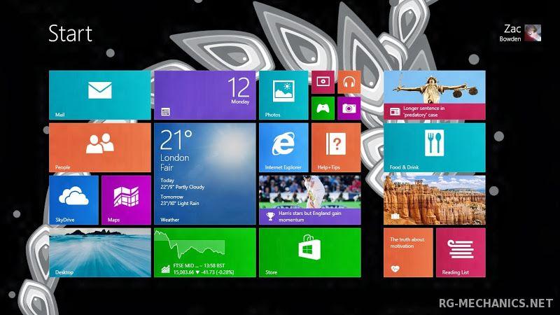 Скриншот к игре Активатор для Windows 8.1 RTM [(Stable) Windows 8.1 Pro build 9600] (2013) PC