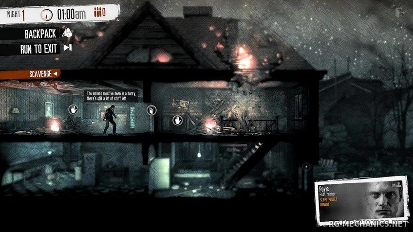Скриншот 1 к игре This War of Mine [v.2.2.2] (2014) PC | Steam-Rip от Let'sРlay