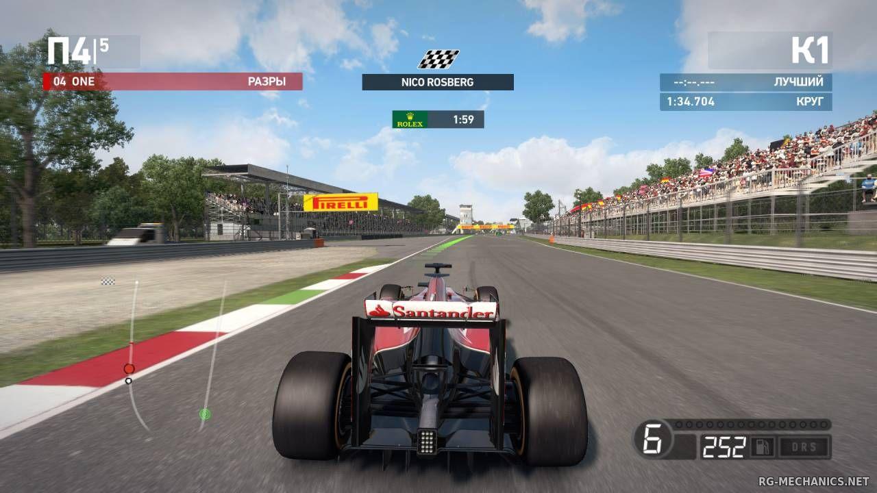 Скриншот к игре F1 2014 по сети