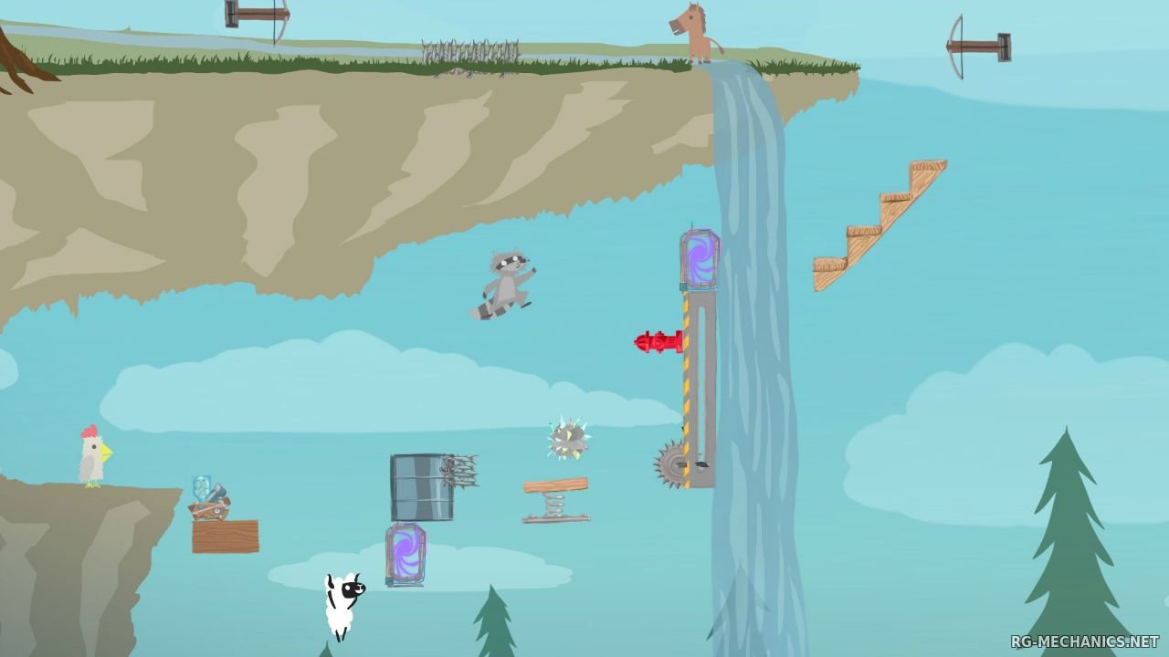 Скриншот к игре Ultimate Chicken Horse по сети