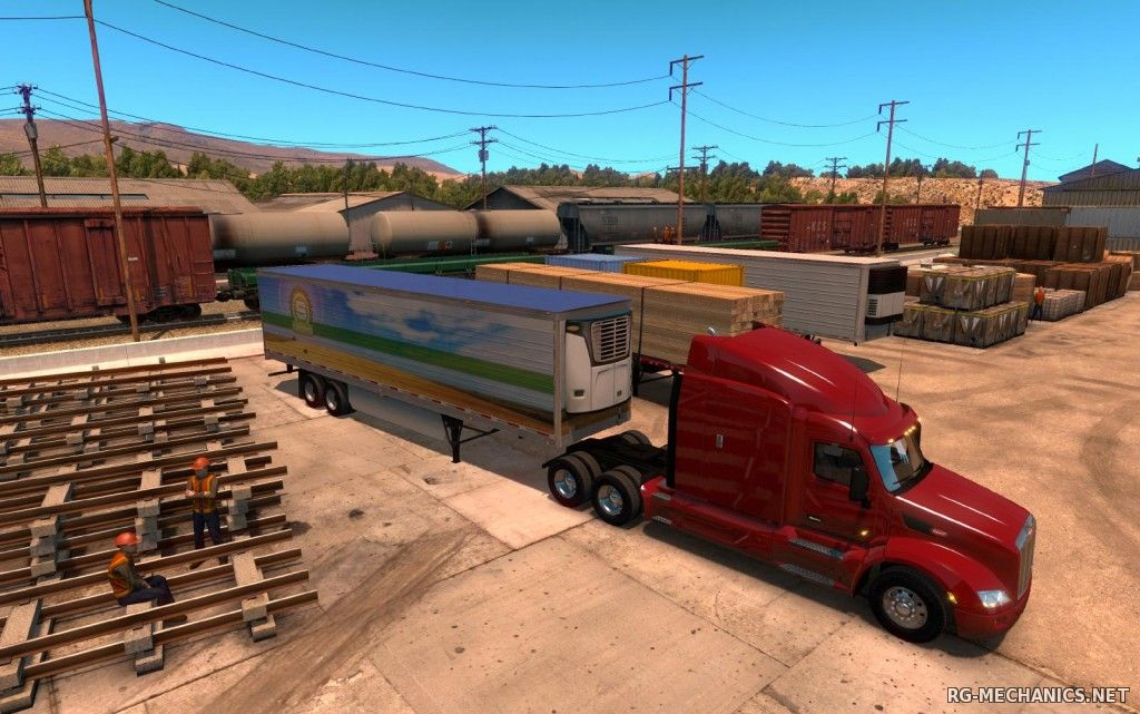 Скриншот к игре American Truck Simulator [v 1.5.2.0s + 11 DLC] (2016) PC | RePack от R.G. Механики