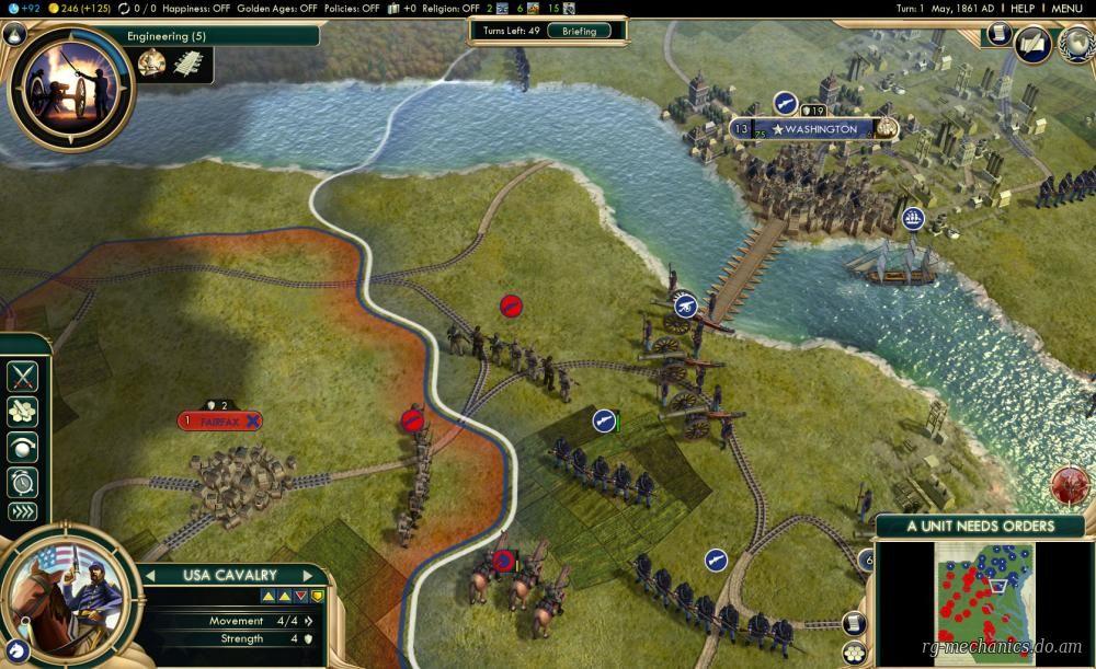 Скриншот к игре Sid Meier's Civilization V: The Complete Edition (2013) PC   RePack от R.G. Механики