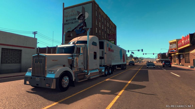 Скриншот к игре American Truck Simulator [v 1.37.1.4s + DLC] (2016) скачать торрент RePack