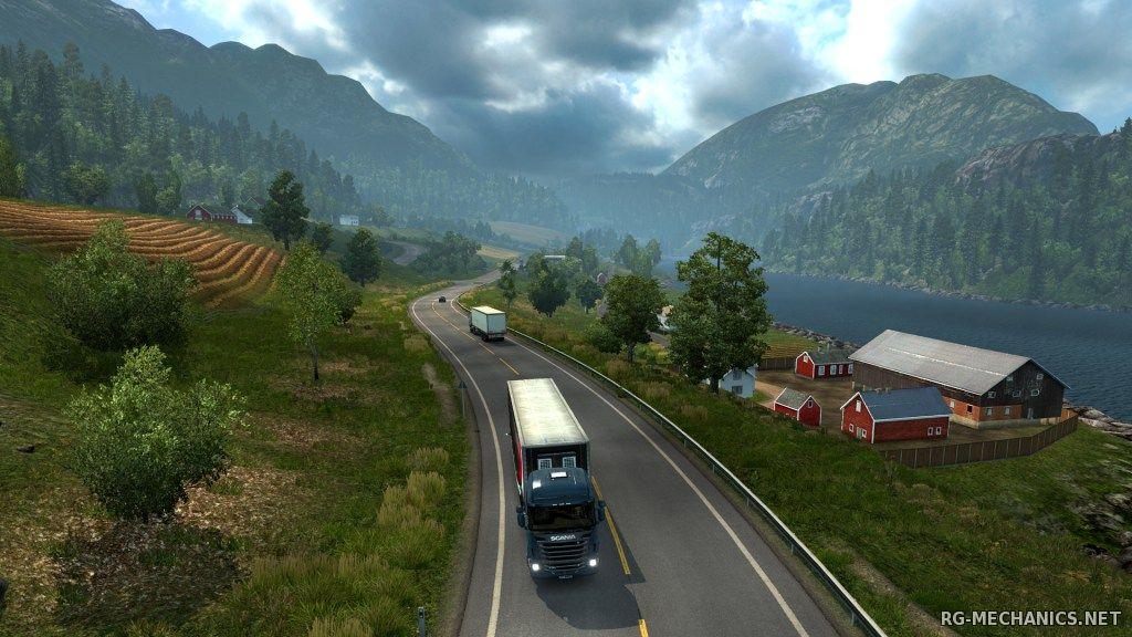 Скриншот к игре Euro Truck Simulator 2 [v 1.27.2.9s + 53 DLC] (2013) PC | RePack от R.G. Механики