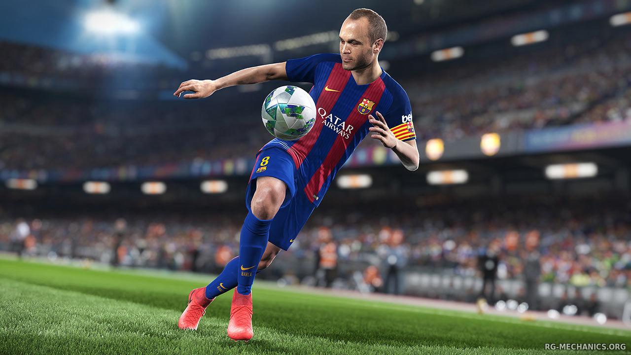 Скриншот к игре PES 2018 / Pro Evolution Soccer 2018: FC Barcelona Edition (2017) PC | RePack от R.G. Механики