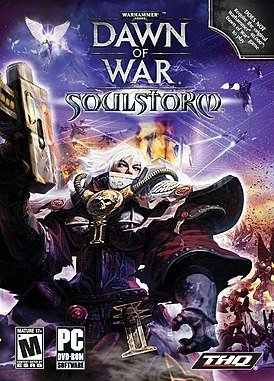 Обложка к игре Warhammer 40000: Dawn of War – Soulstorm (2008)